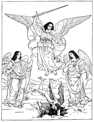 heavenly host of angels coloring pages | Archangel Michael: Part 1 | Bible Lit