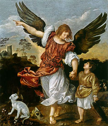 Archangel Raphael and Tobias by Titian